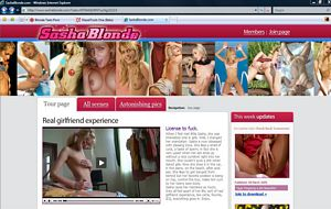 Sasha Blonde - Horny, sexy, fun. Best blonde teen sex site online